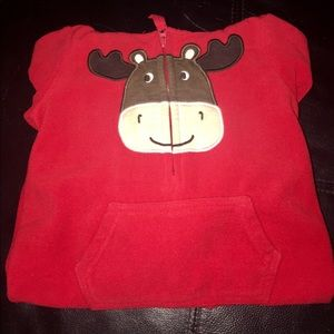 One Piece Holiday Winter Moose Pajamas • Size 12M